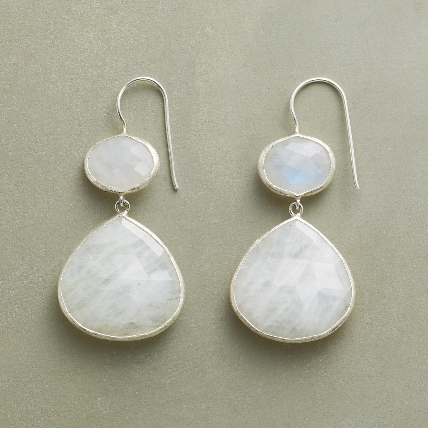 MODERNITY MOONSTONE EARRINGS: View 1