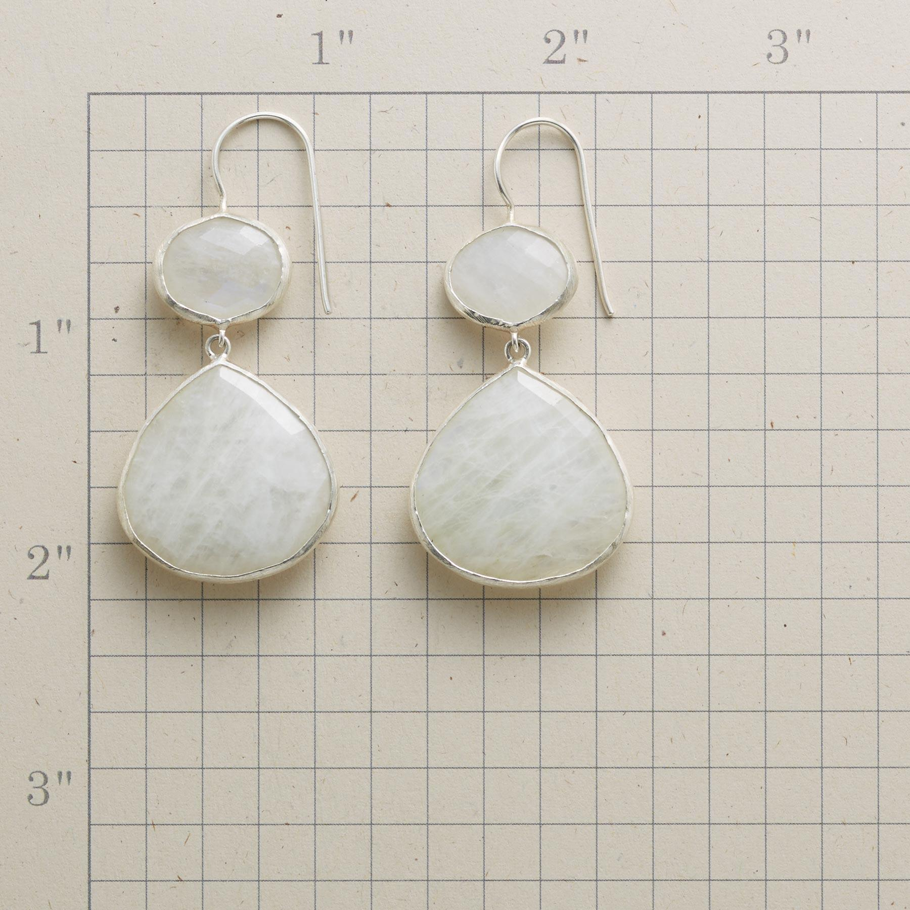 MODERNITY MOONSTONE EARRINGS: View 2