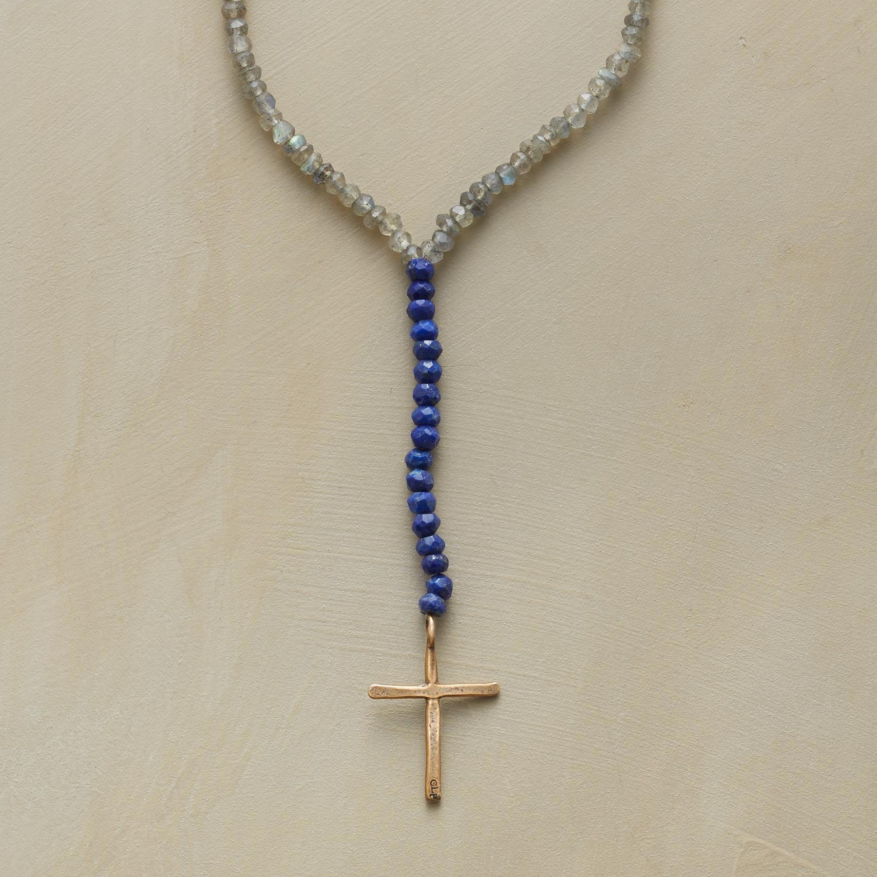 CELESTIAL CROSS NECKLACE: View 1