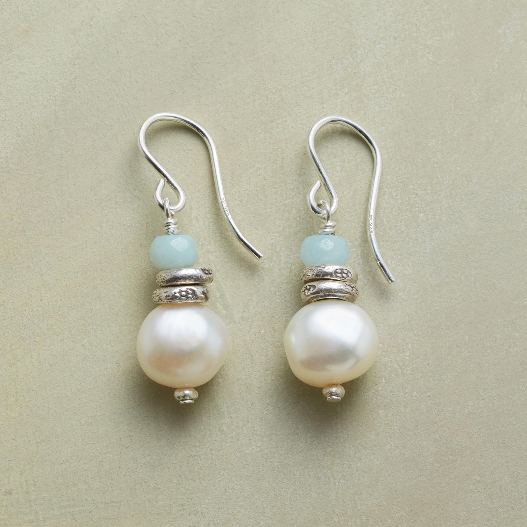 SERENITY PEARL EARRINGS: View 1