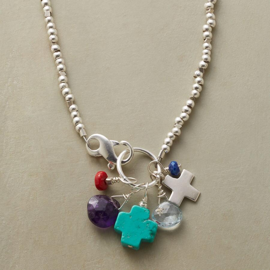 TWO CROSSES NECKLACE