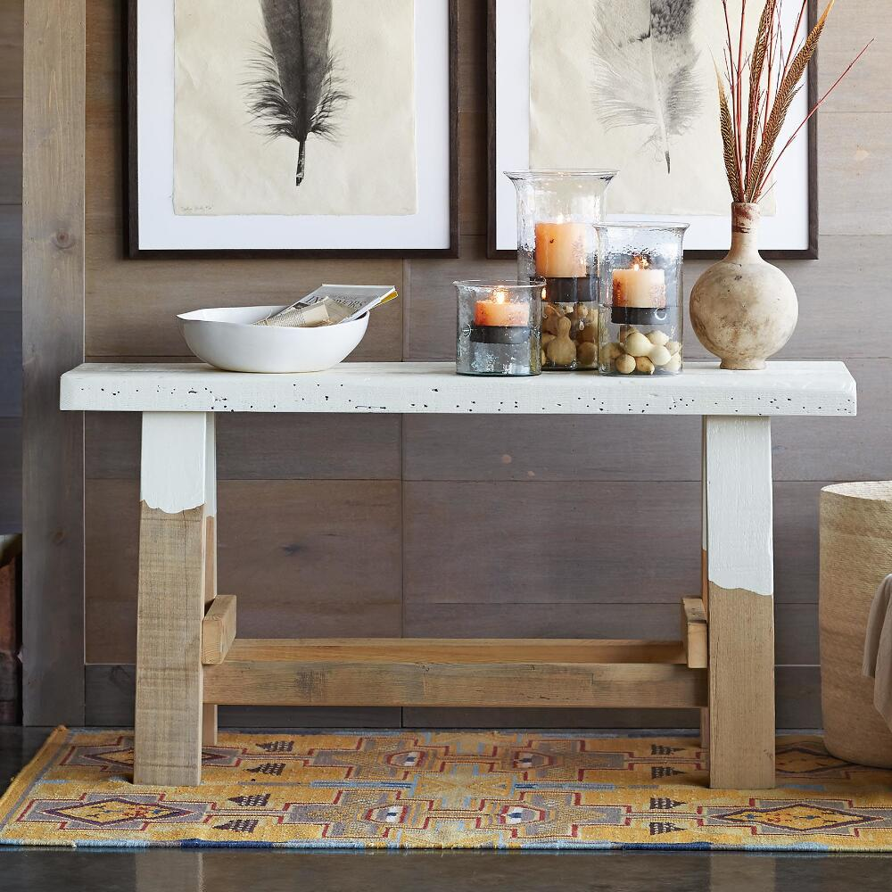 Reclaimed wood console table robert redfords sundance catalog geotapseo Gallery