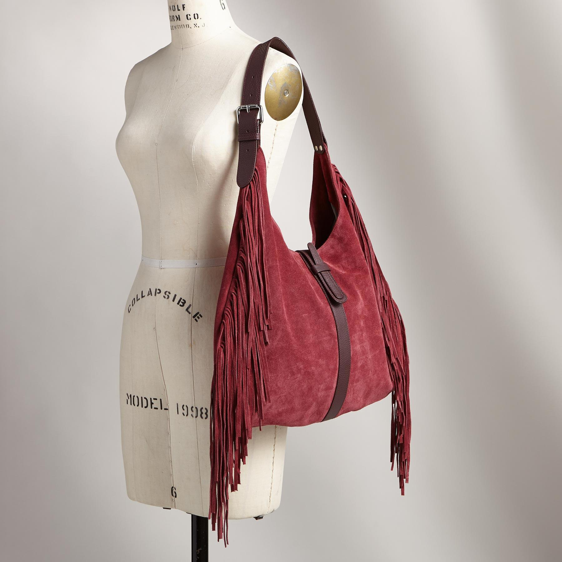 HEARTLAND FRINGED HOBO BAG: View 4