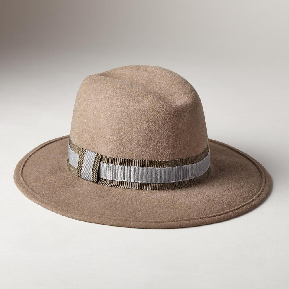 WOOL FELT LUXURY MED BRIM HAT: View 1