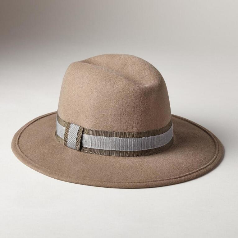 WOOL FELT LUXURY MED BRIM HAT