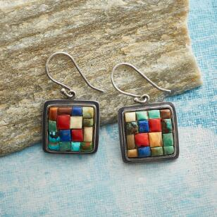 AZTEC MOSAIC EARRINGS