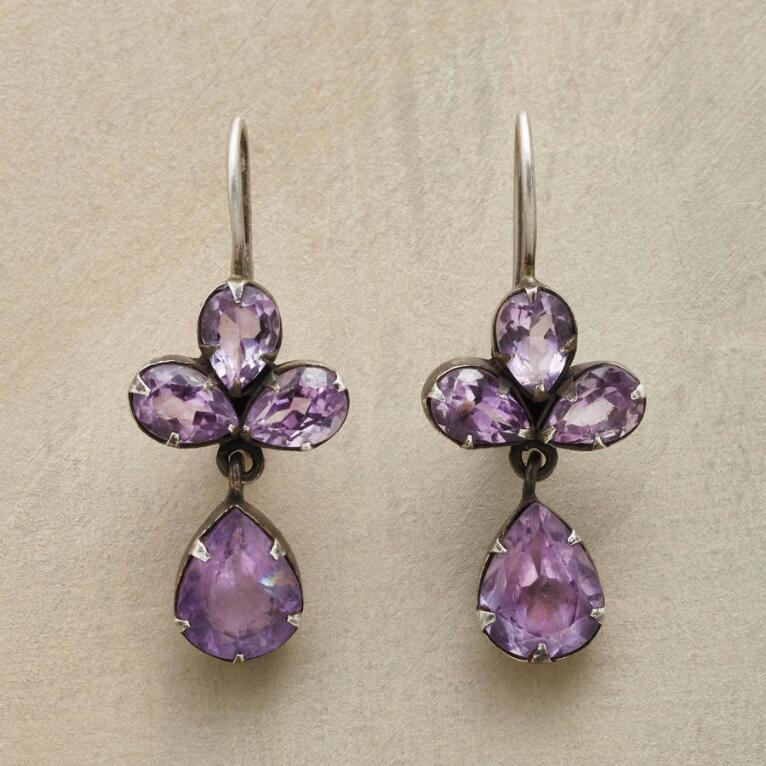 TREFOIL AMETHYST EARRINGS