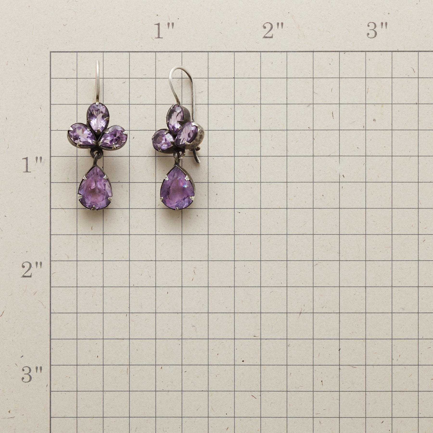 TREFOIL AMETHYST EARRINGS: View 2