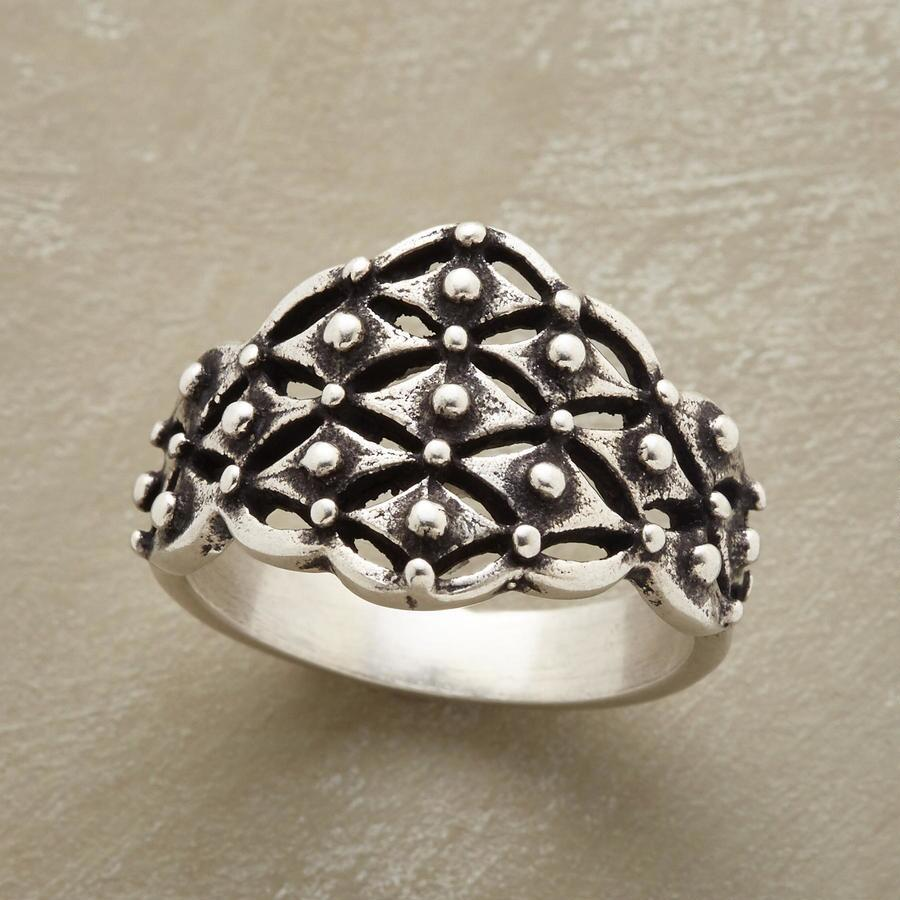 STERLING TRELLIS RING