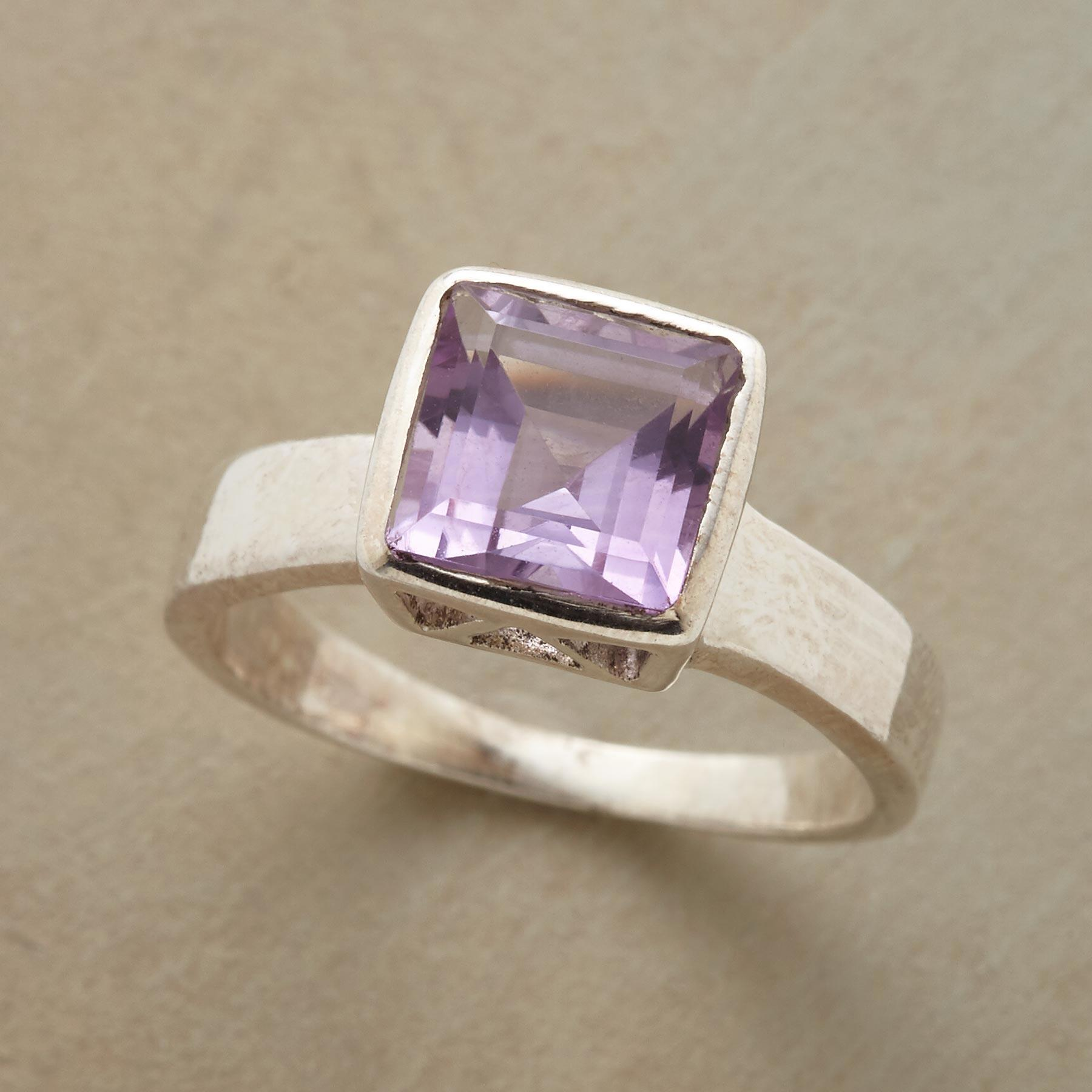 SKYSCRAPER AMETHYST RING: View 1
