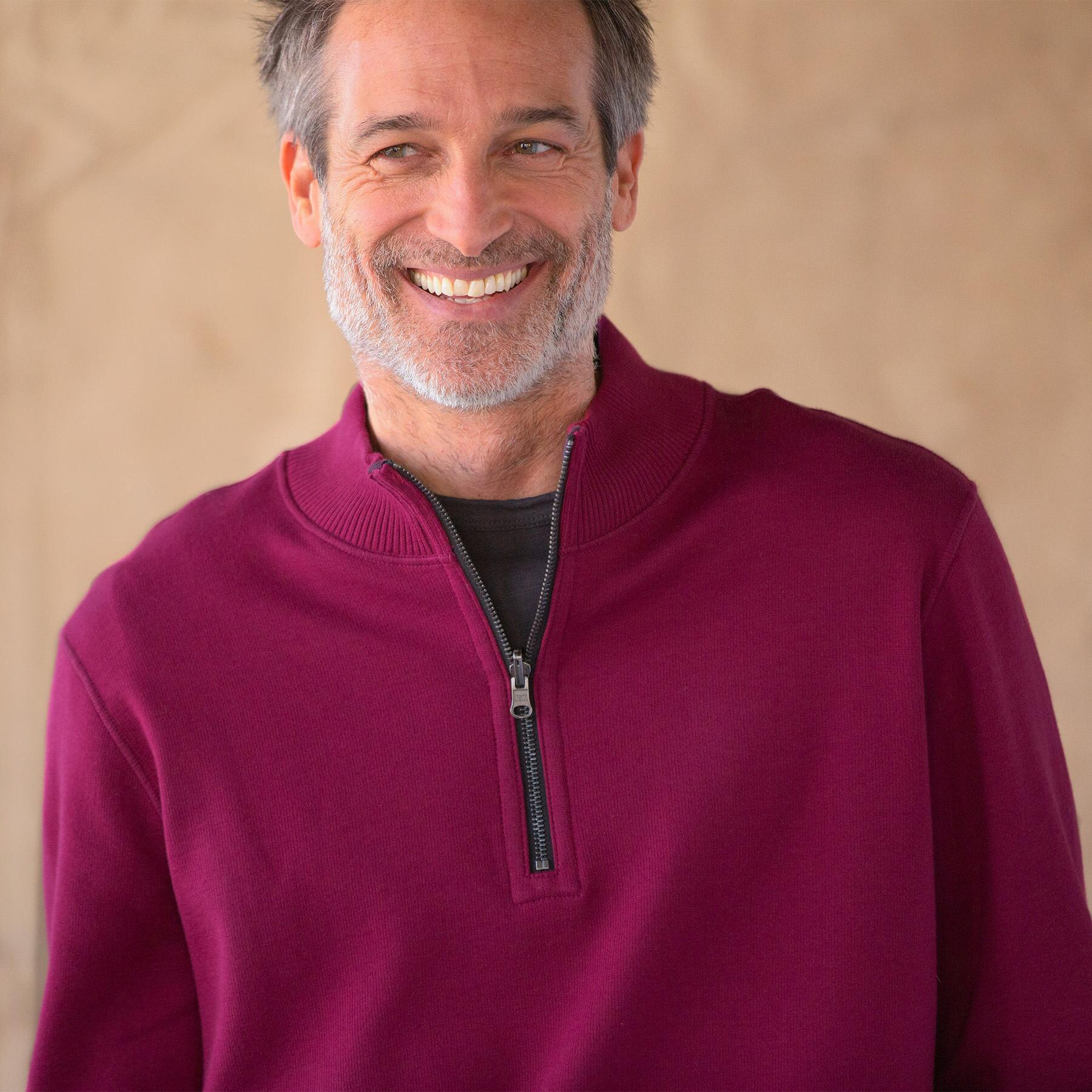 ba90e30cb5 Reversible Quarter Zip Pullover Sweater | Robert Redford's Sundance ...