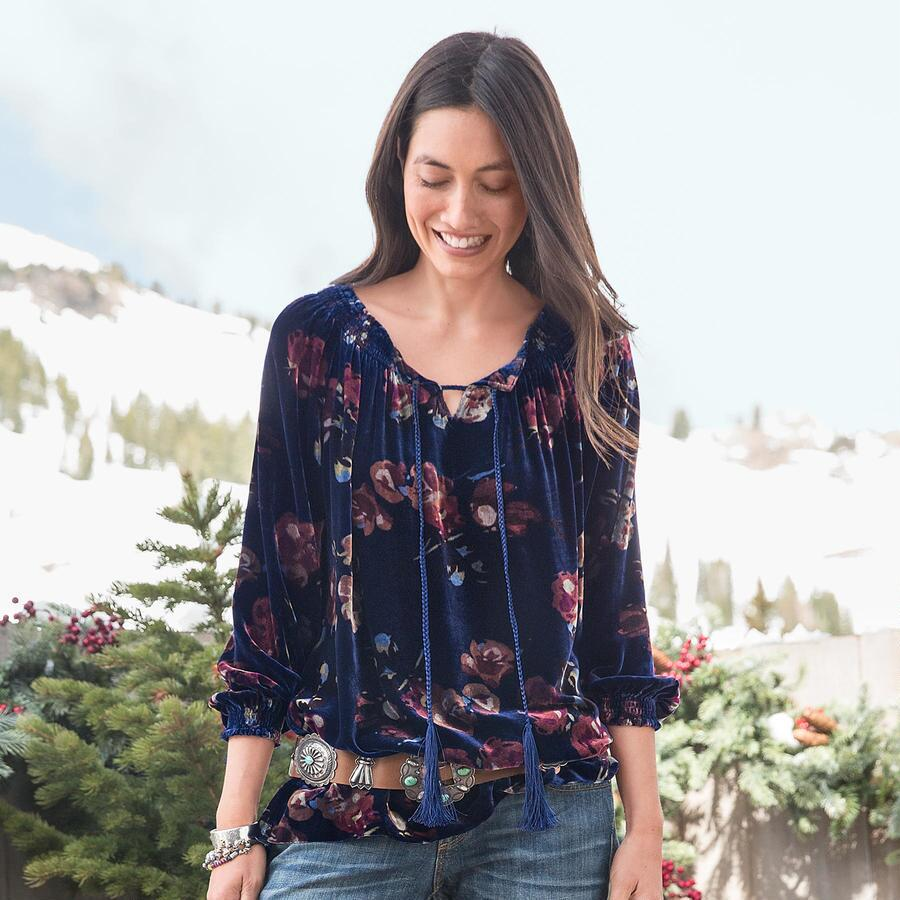 MIDNIGHT ROSES TUNIC