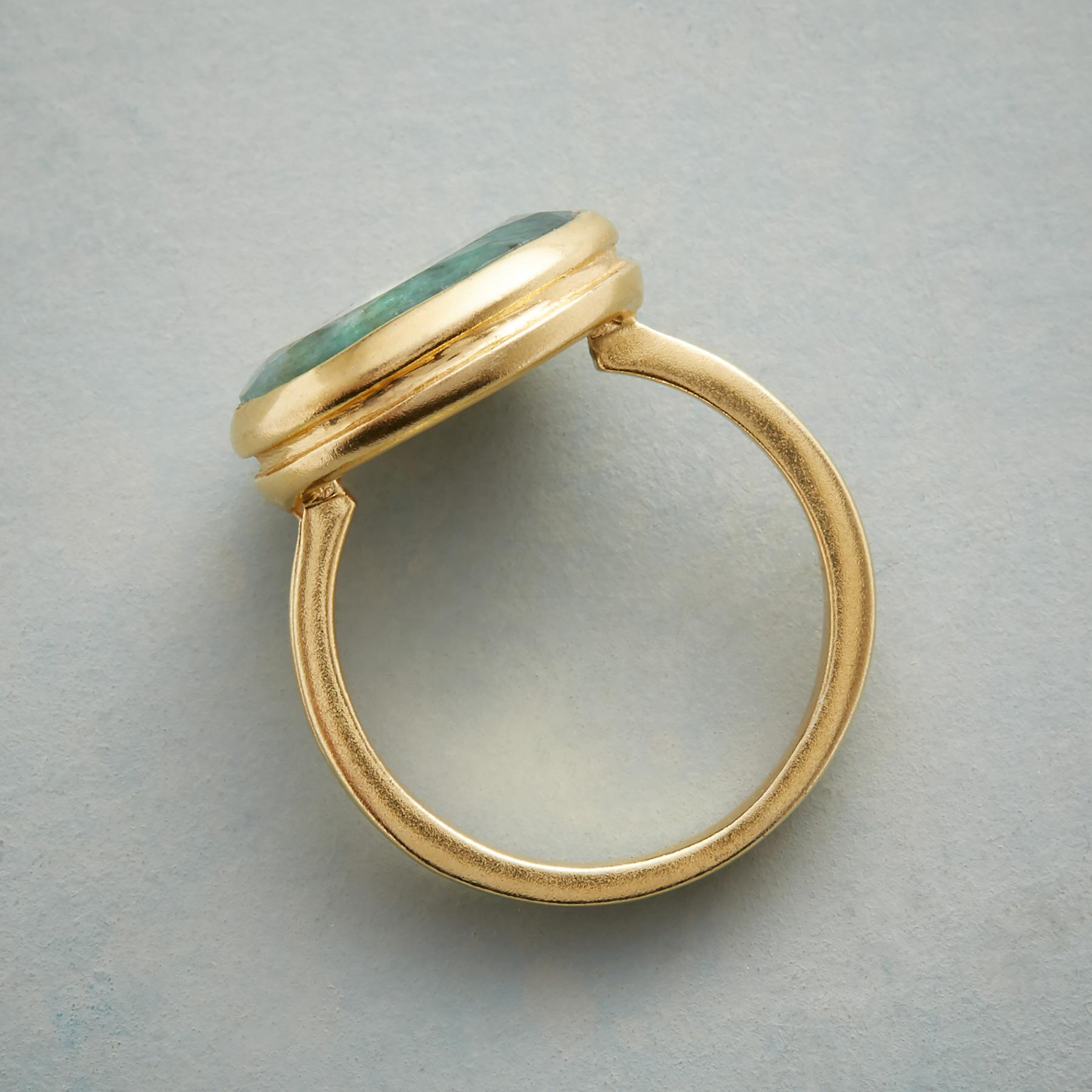 EMBRACED EMERALD RING: View 2