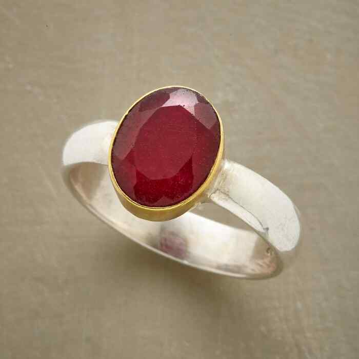 TWO TONE RUBY RING