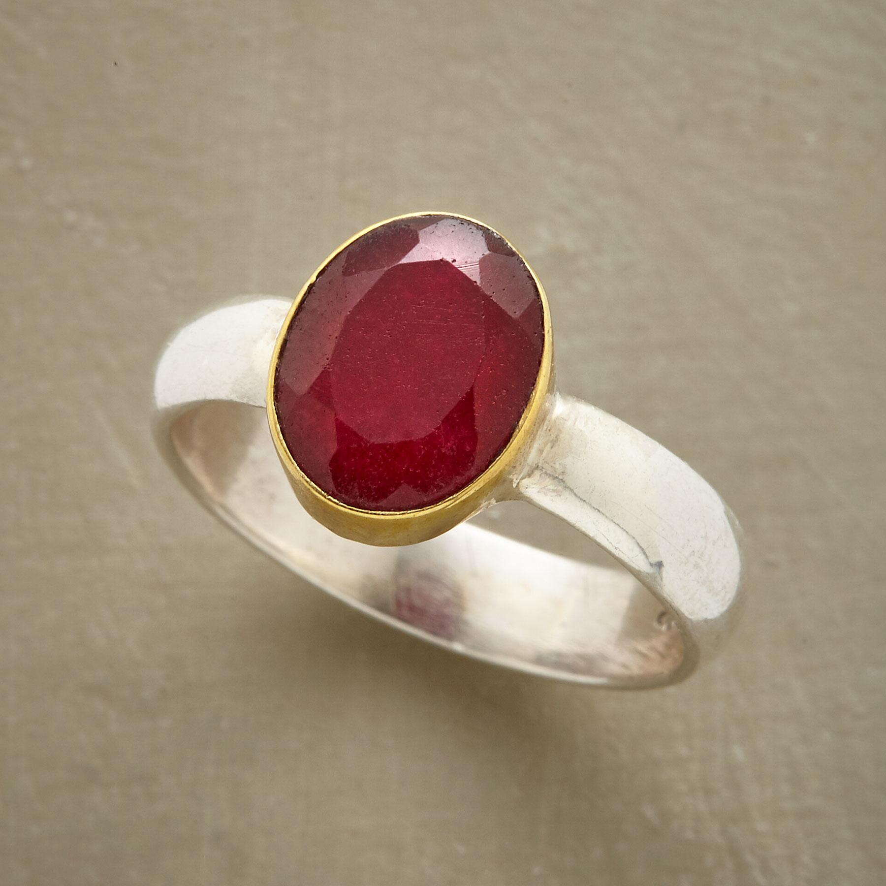TWO TONE RUBY RING: View 1