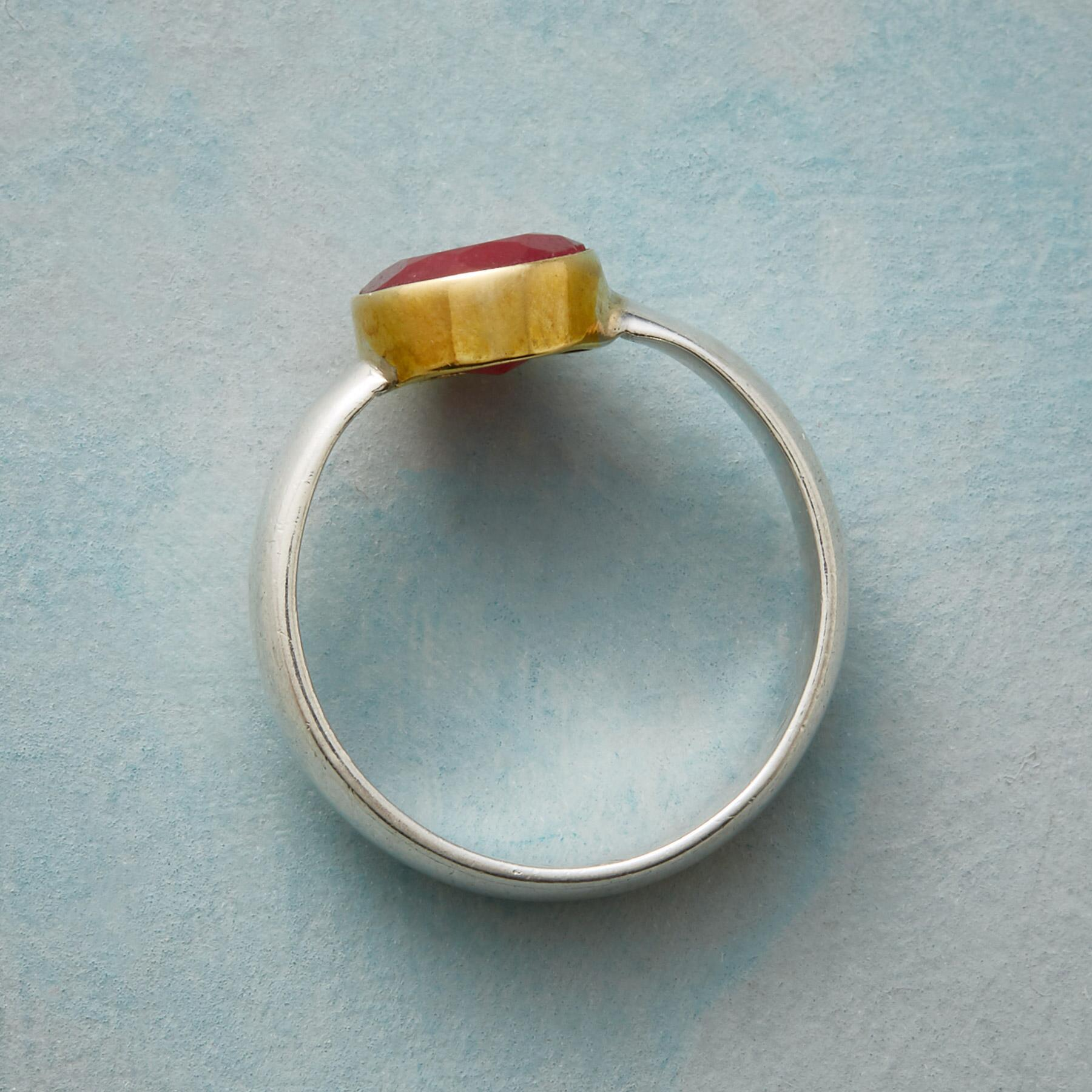 TWO TONE RUBY RING: View 2