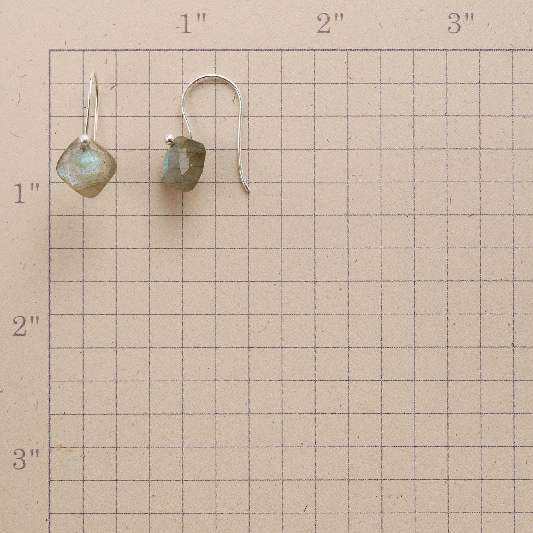 LABRADORITE PILLOW EARRINGS: View 2