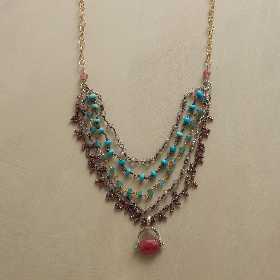 TIERED TRELLIS NECKLACE