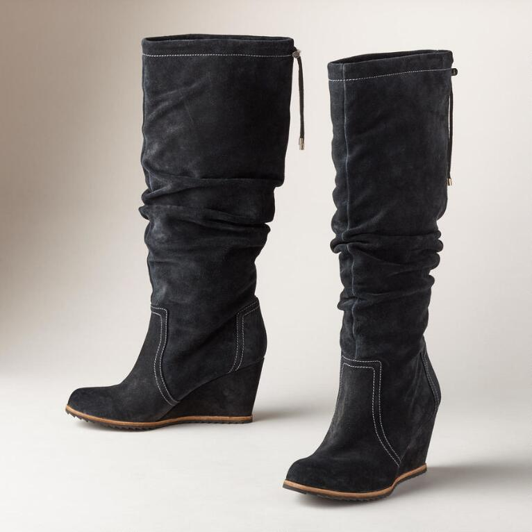 INKA TALL WEDGE BOOTS