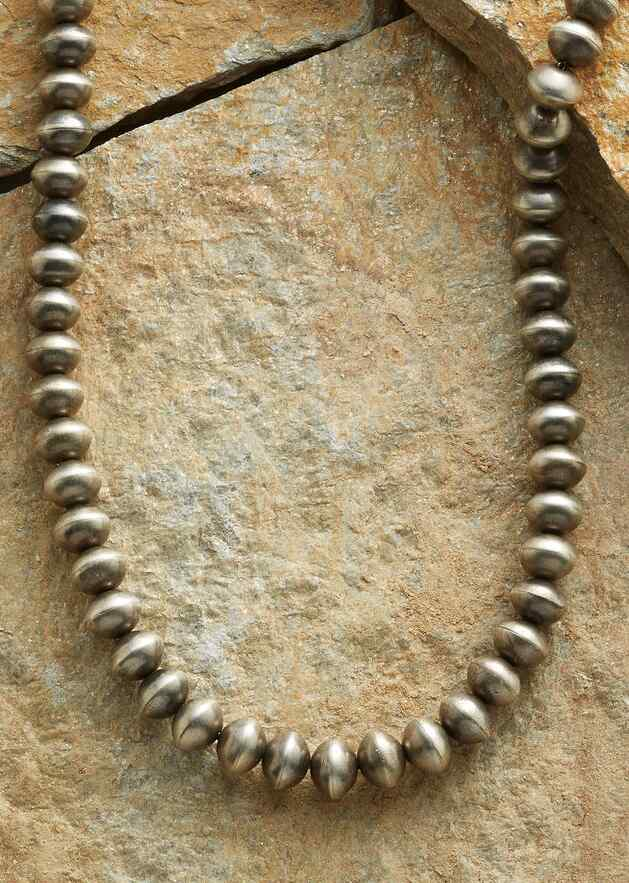 HANDMADE STERLING BEAD NECKLACE