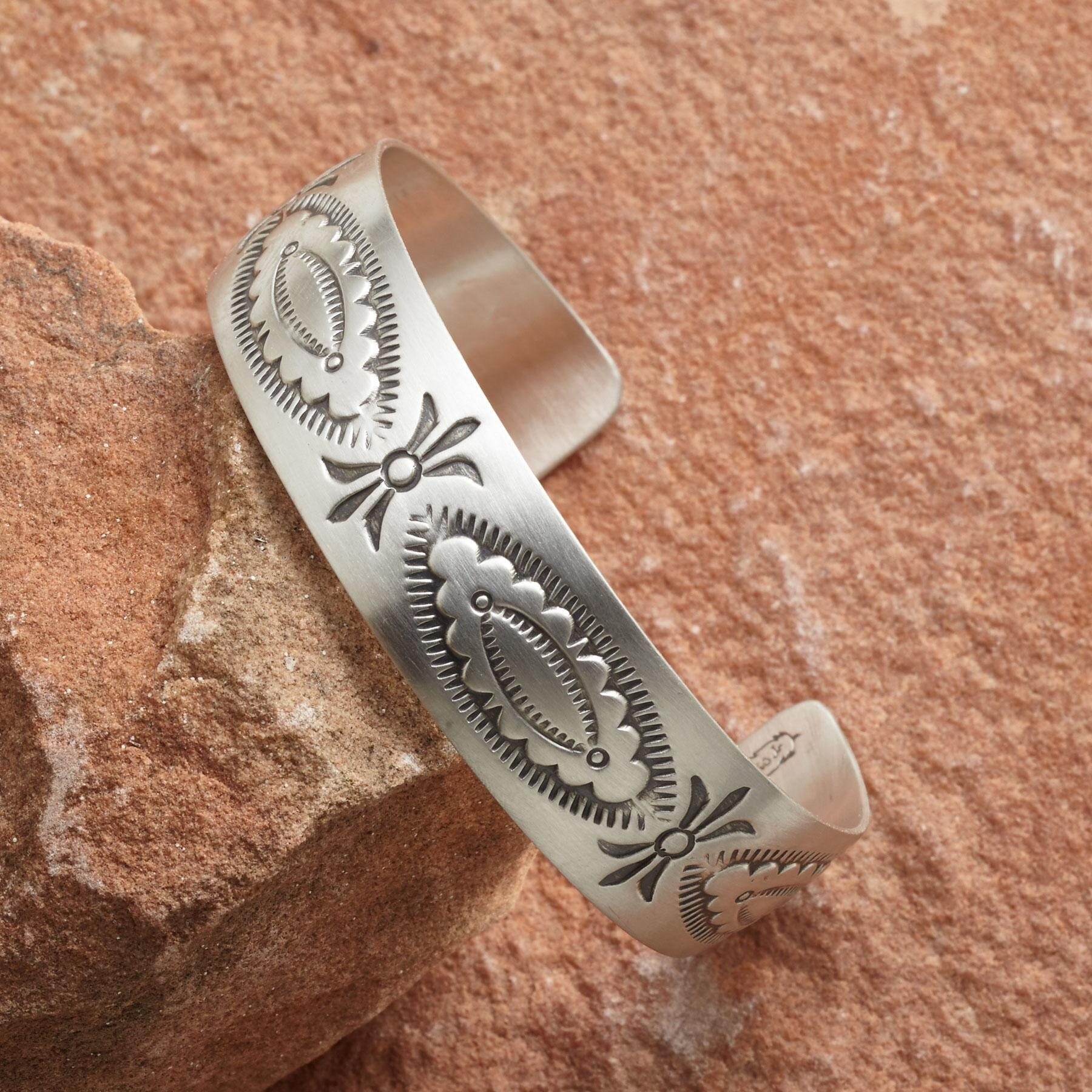 Navajo Stamped Cuff Bracelet