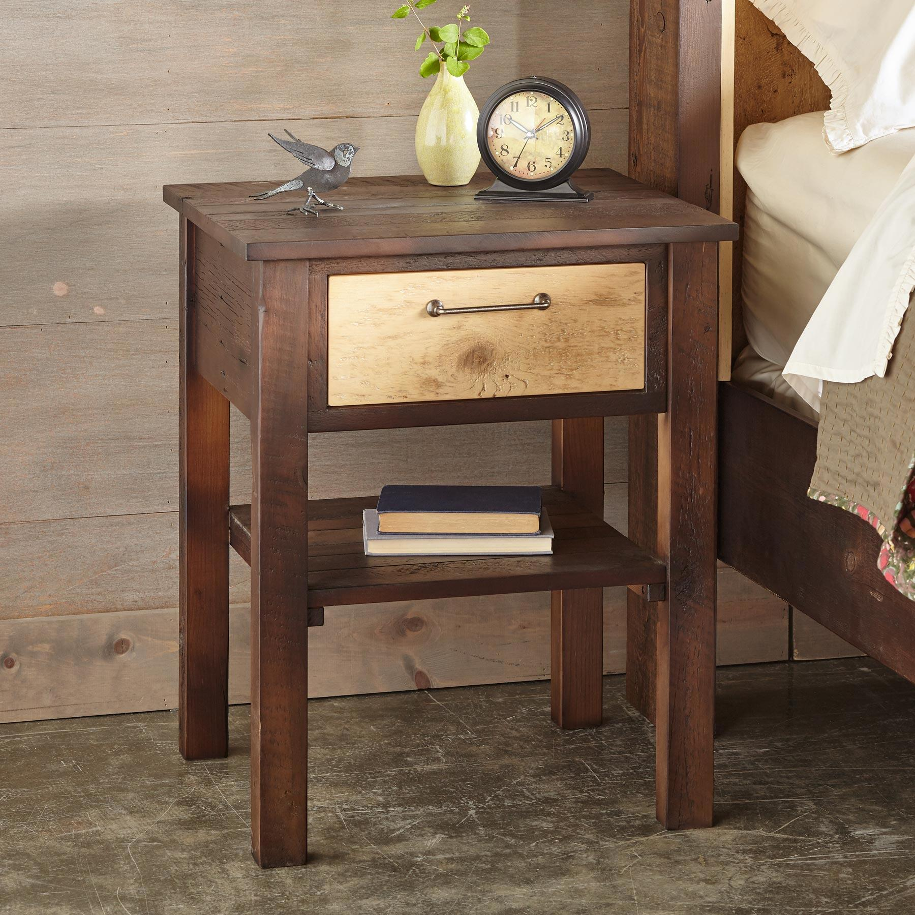 KENYON BARNWOOD NIGHTSTAND: View 1