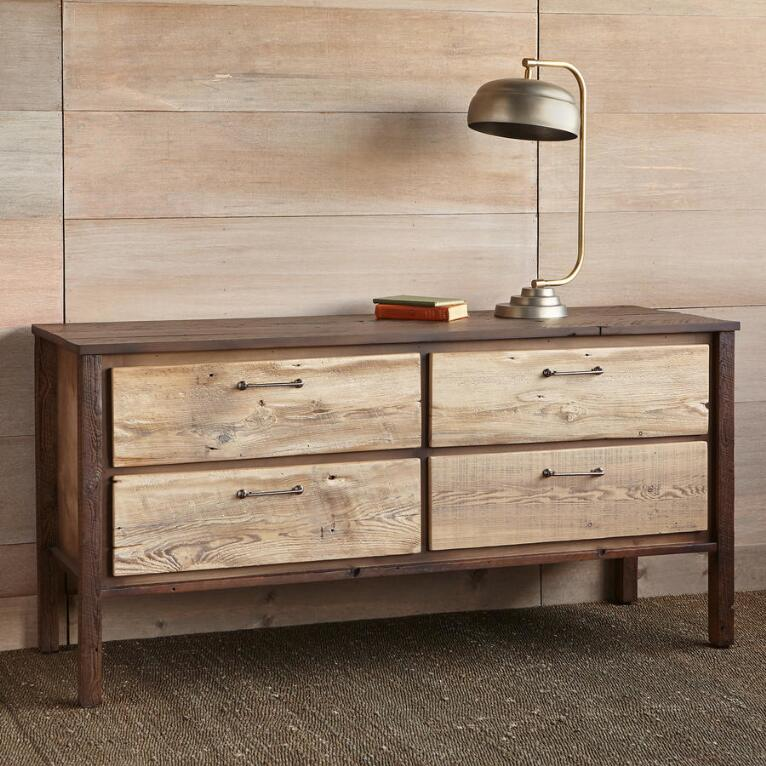 KENYON BARNWOOD LOW DRESSER