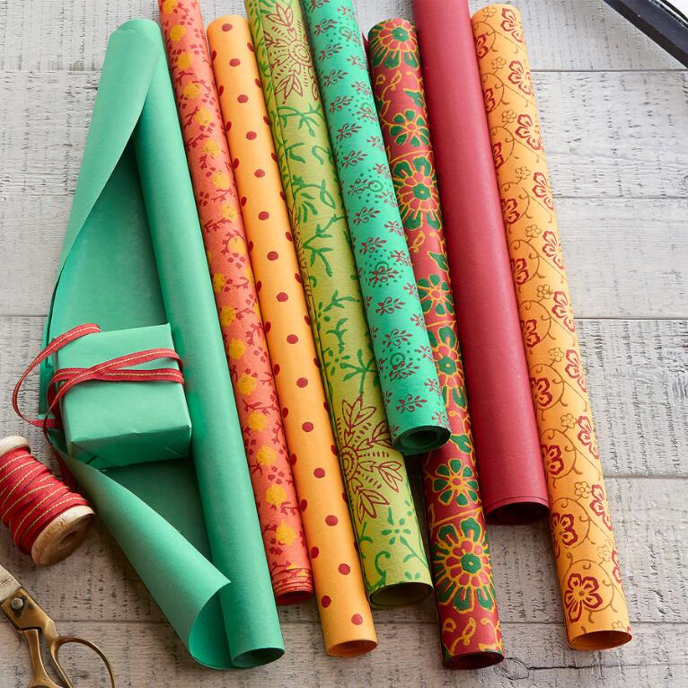 MEDLEY WRAPPING PAPER, SET OF 8