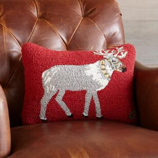 HOLIDAY REINDEER RUN PILLOW