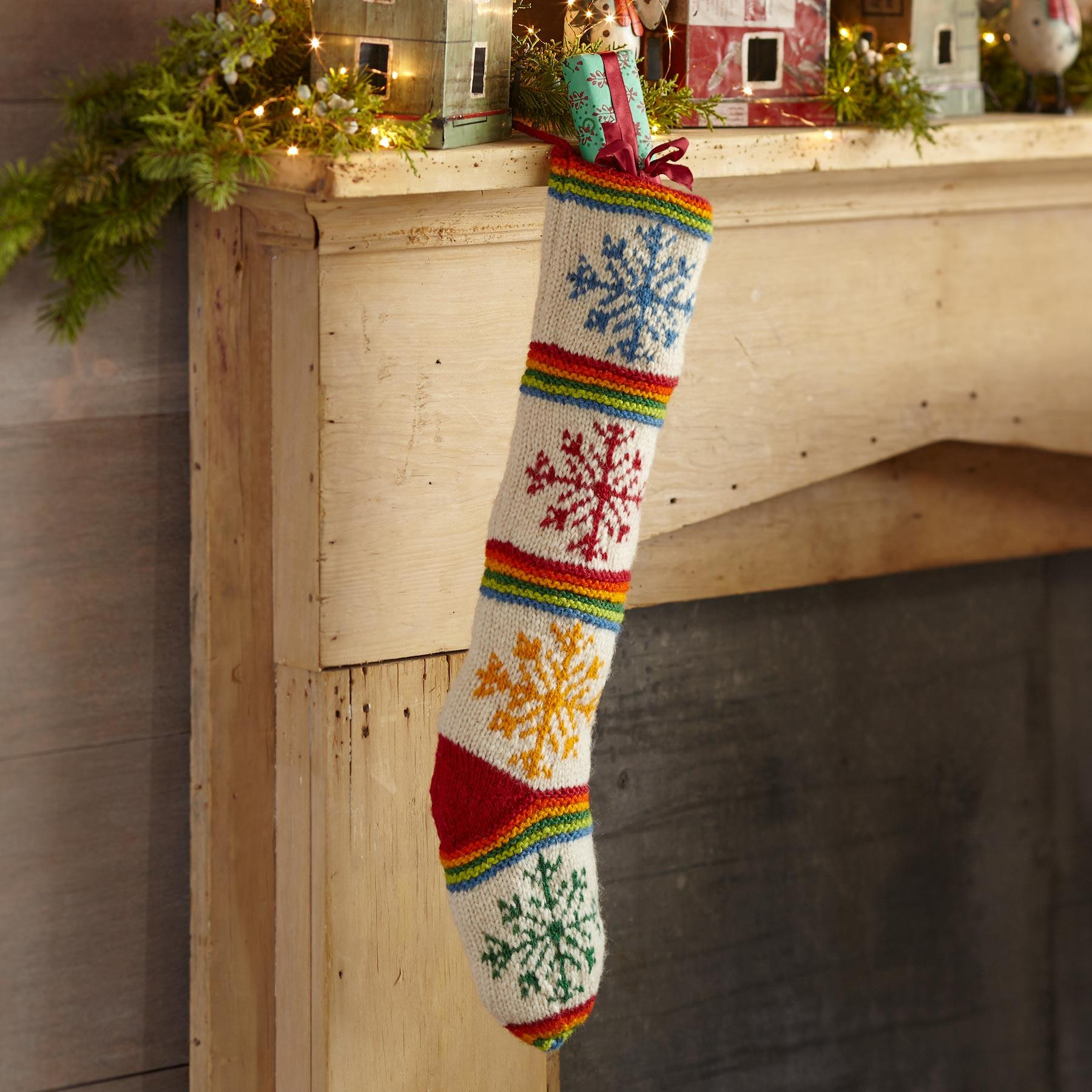 HEIRLOOM COLORFUL SNOWFLAKE STOCKING: View 1