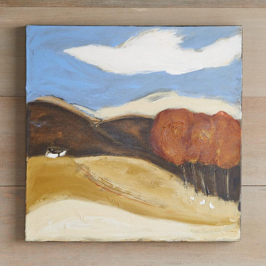 RUST RED TREES PAINTING
