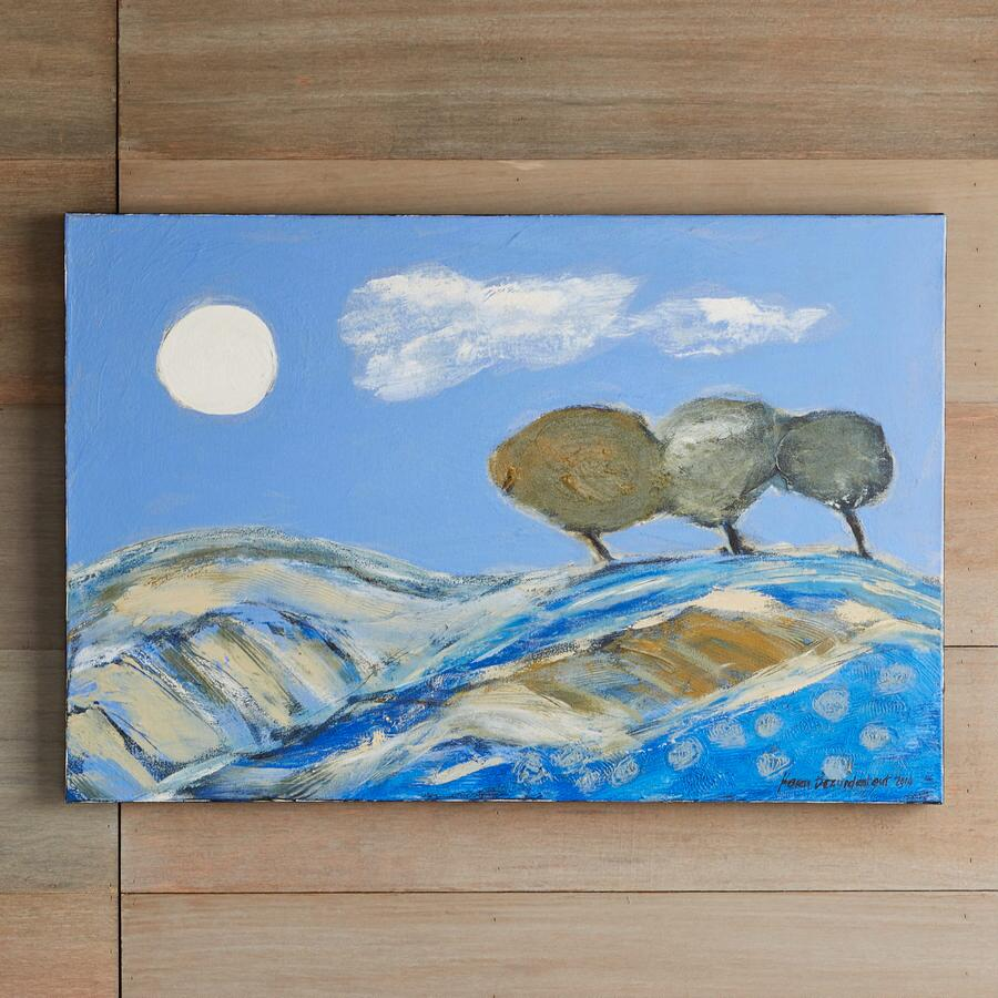 BLUE LANDSCAPE PAINTING