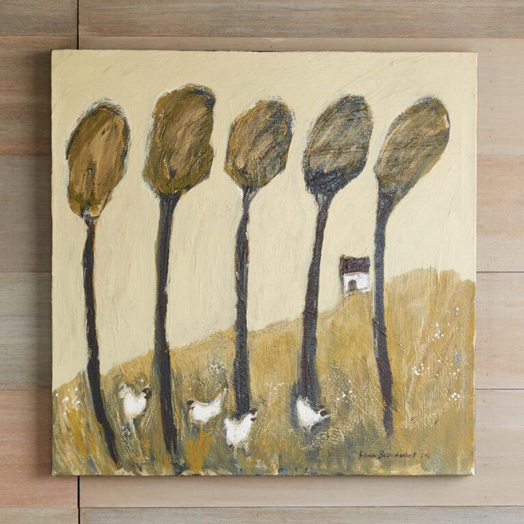 FOREST CHICKENS PAINTING