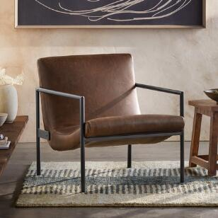 GRIFFITH LEATHER CLUB CHAIR