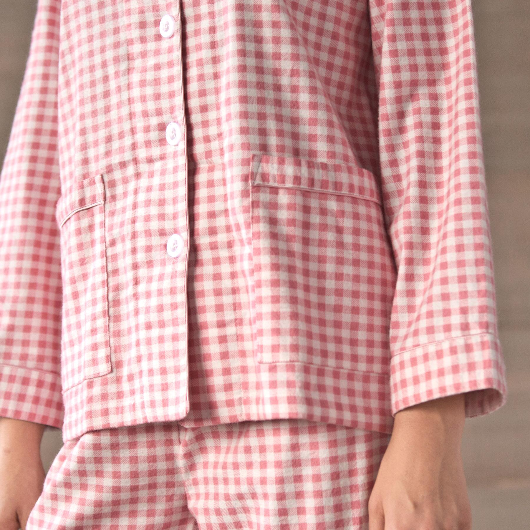GINGHAM PRINTED FLANNEL PJ SET: View 2