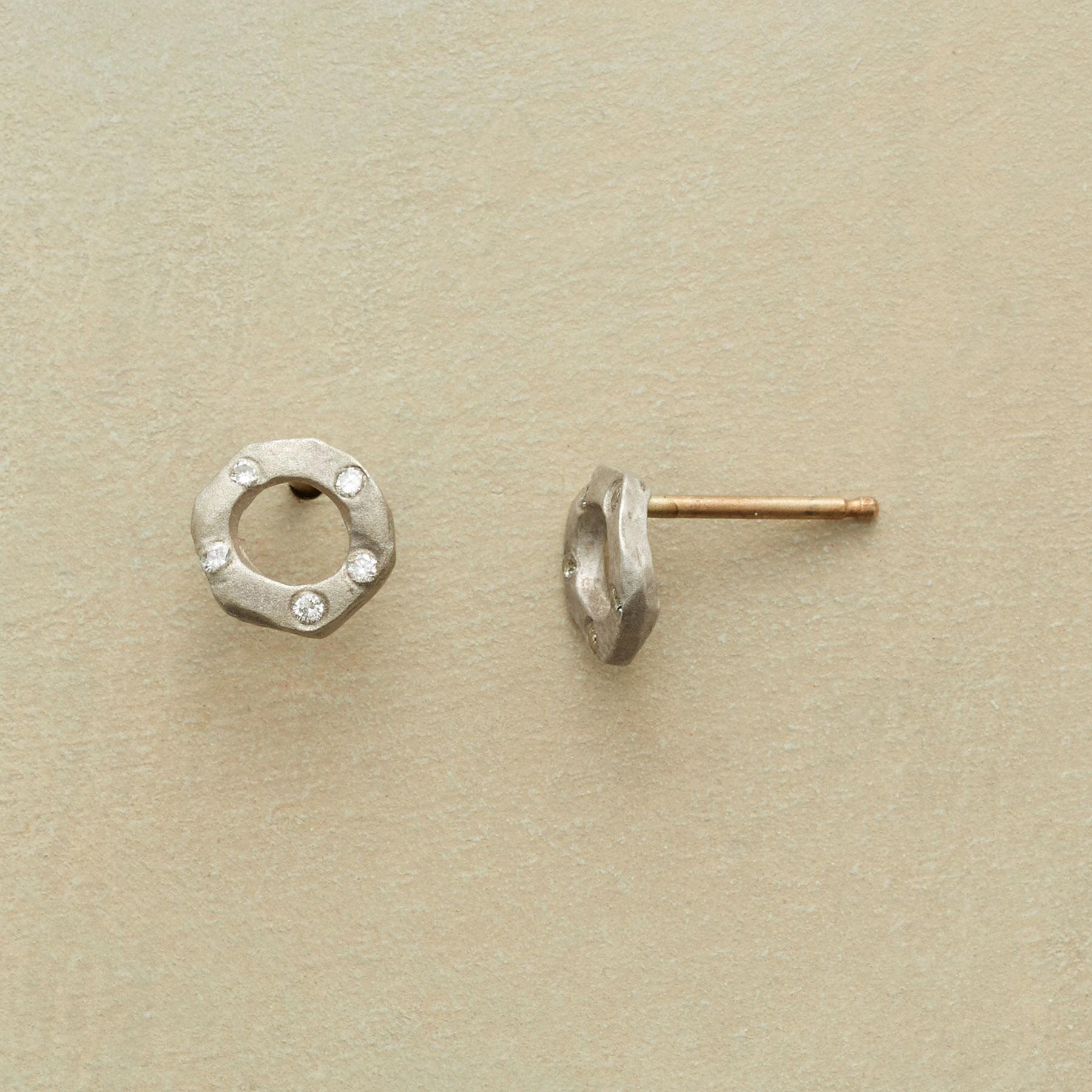 DIAMOND WHEEL EARRINGS: View 1