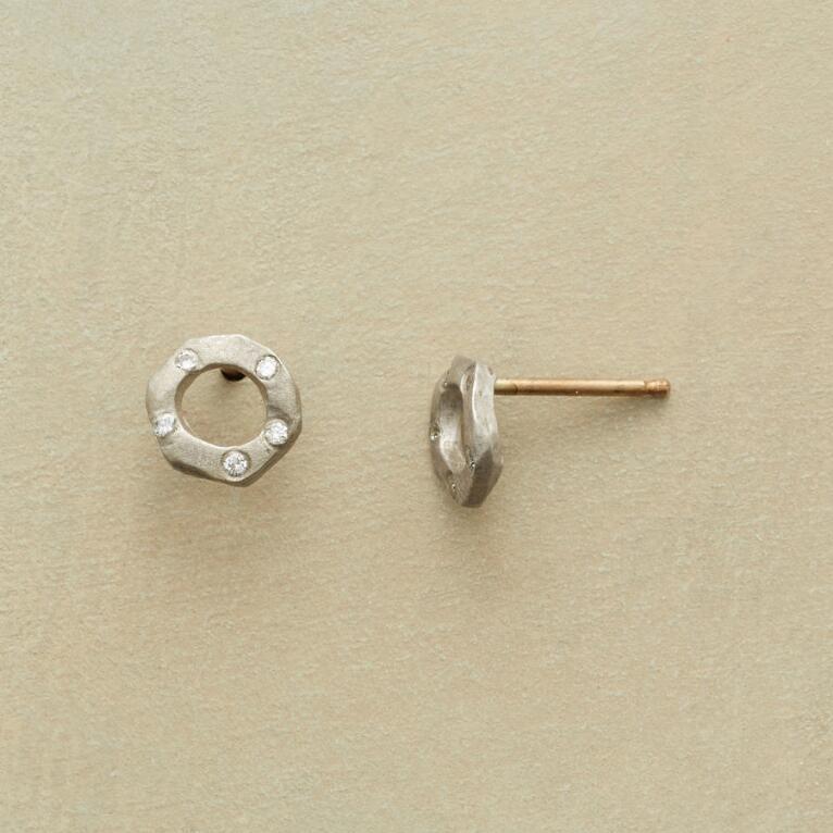 DIAMOND WHEEL EARRINGS