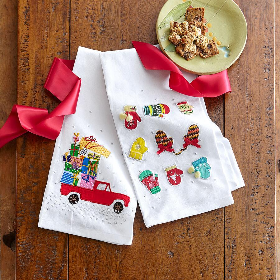 NEWFALLEN SNOW TEA TOWELS S/2