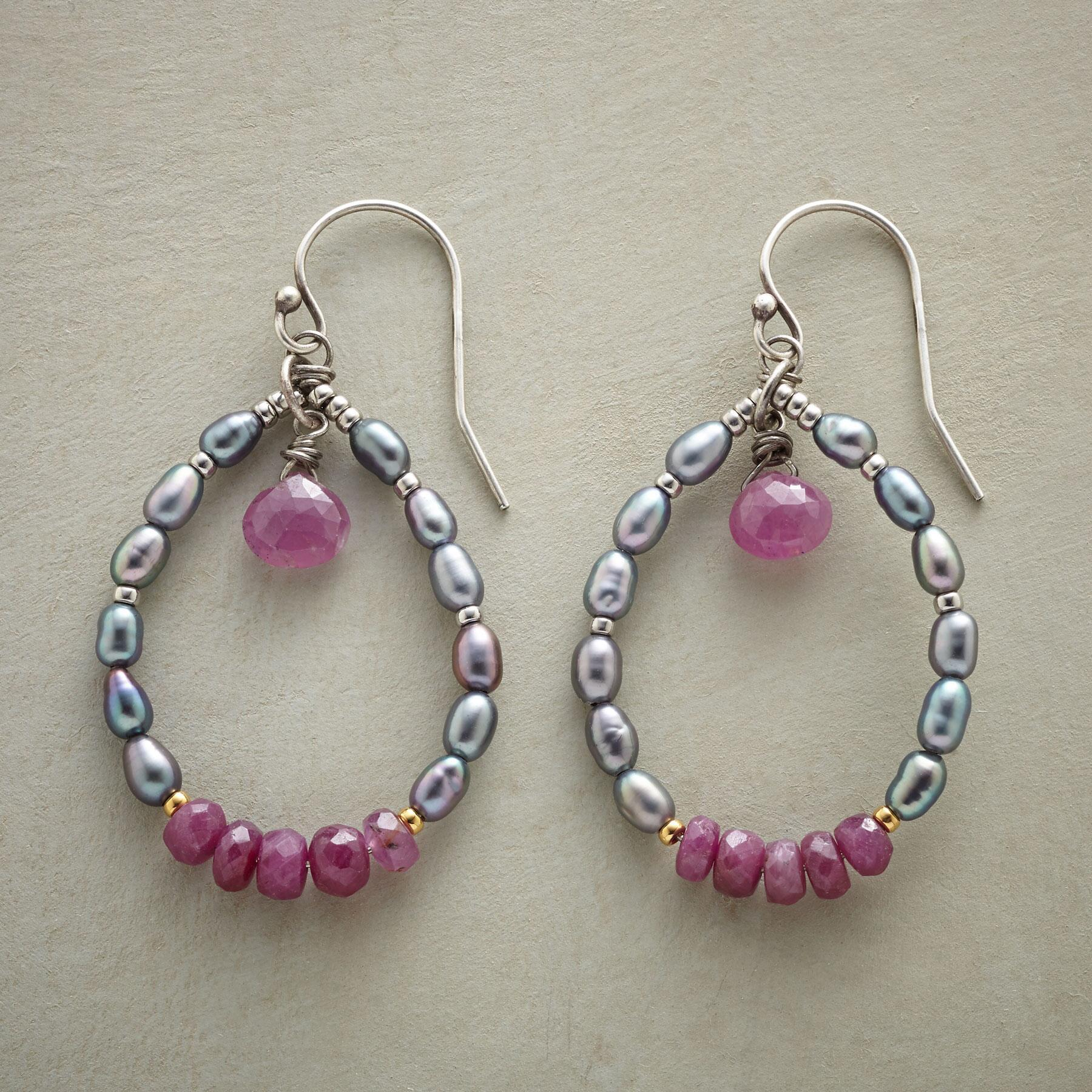 RUBY REBEL EARRINGS: View 1