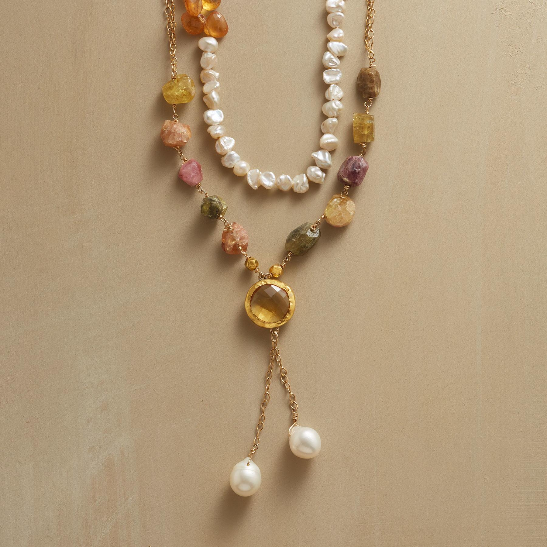 SUNLIGHT AND PEARLS NECKLACE: View 1