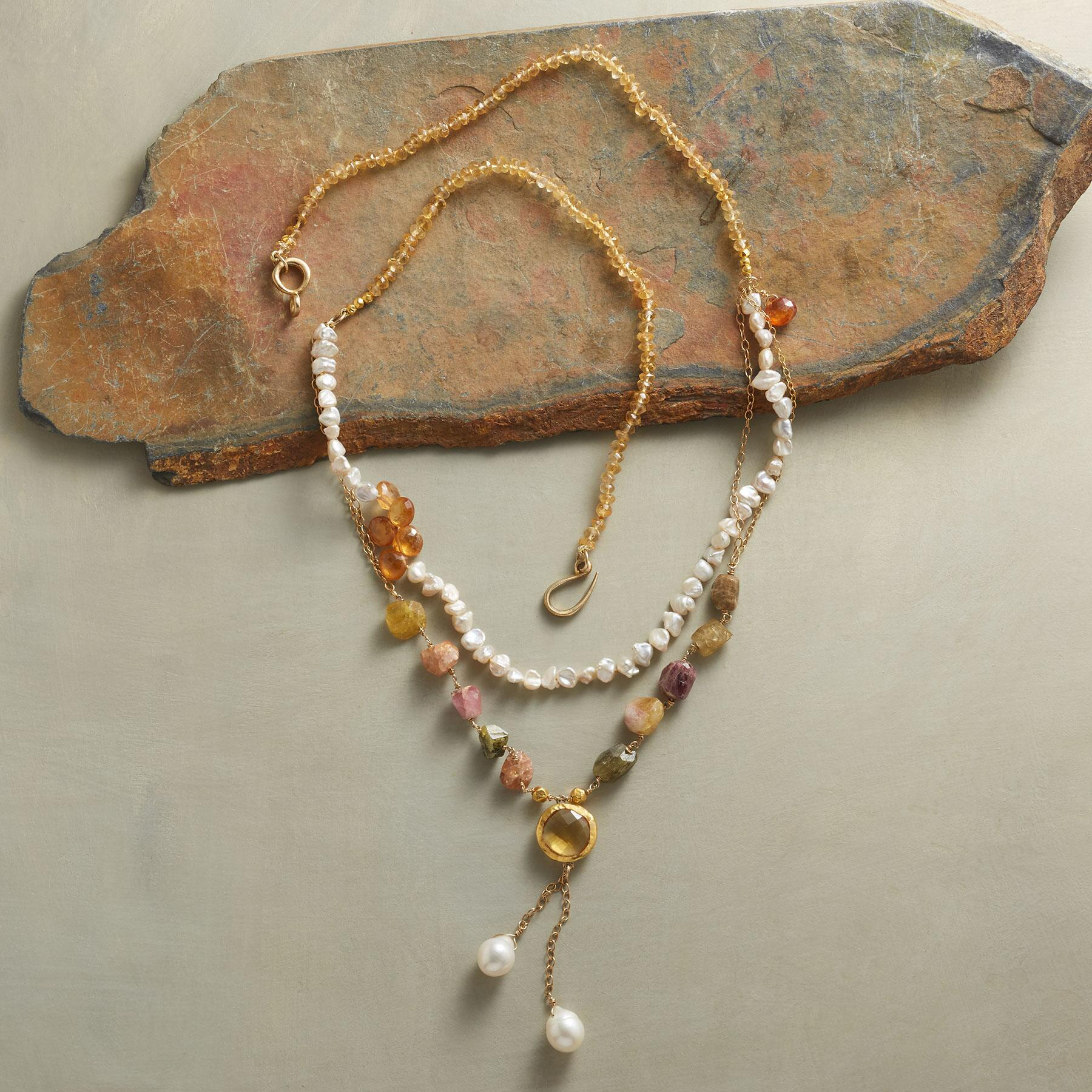 SUNLIGHT AND PEARLS NECKLACE: View 2