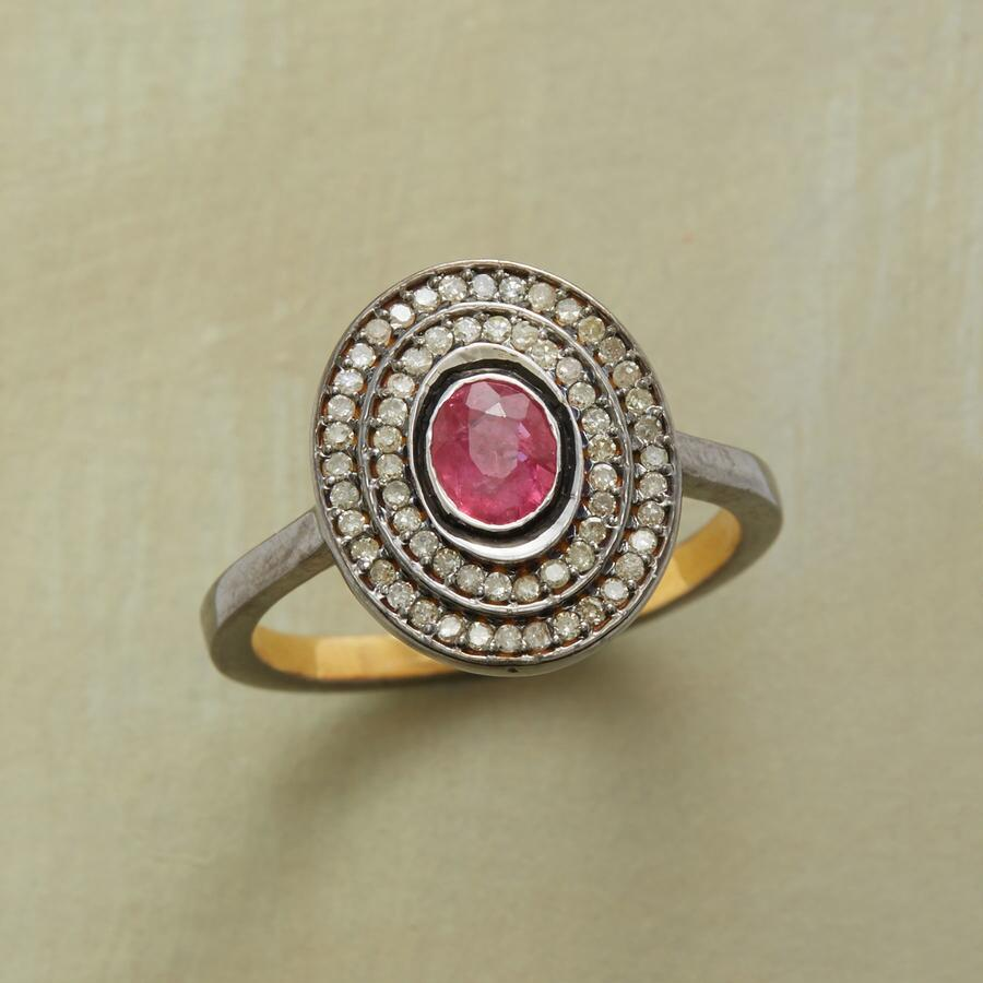 RUBY HOVERING GEMSTONE RING