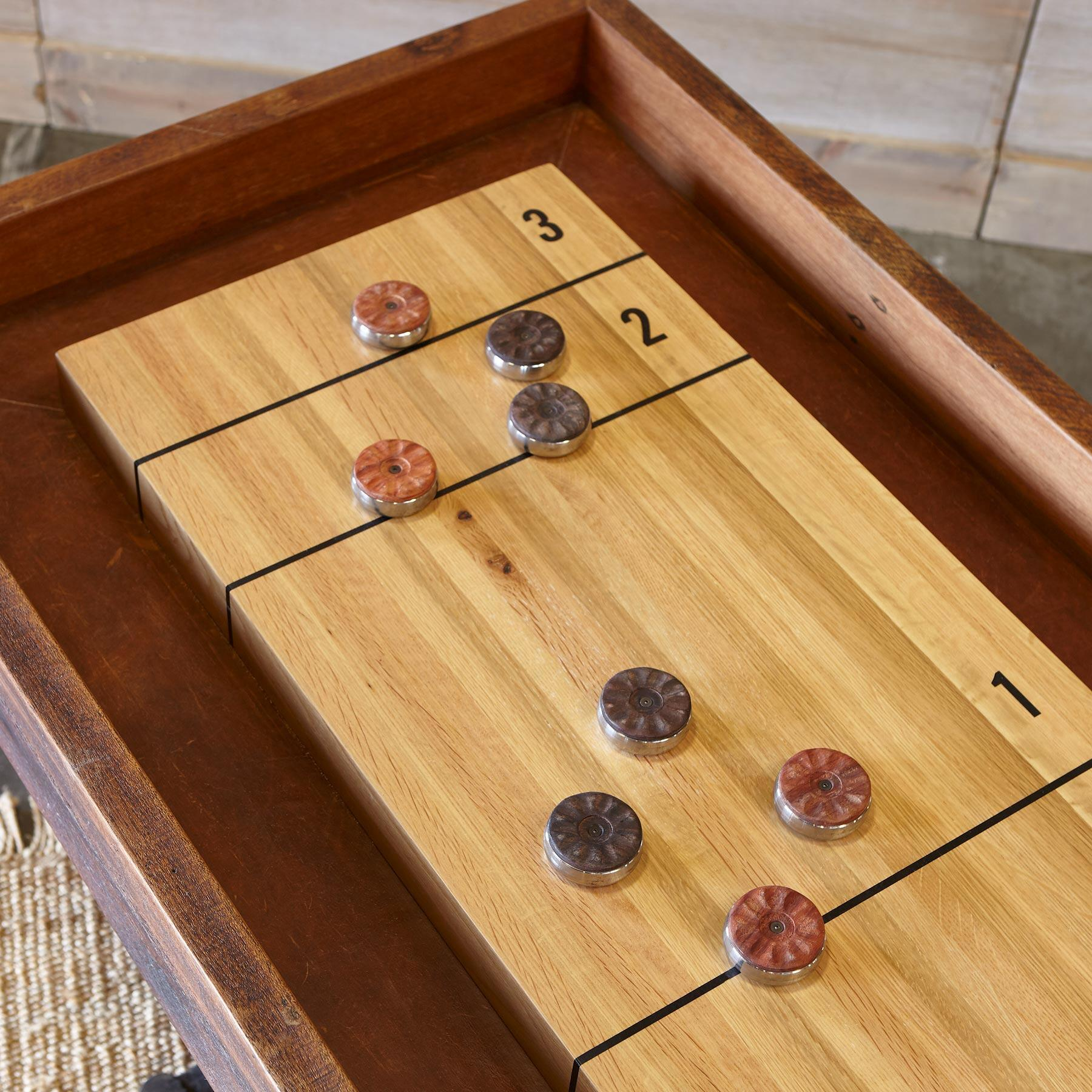 CLASSIC LARGE SHUFFLEBOARD TABLE: View 2