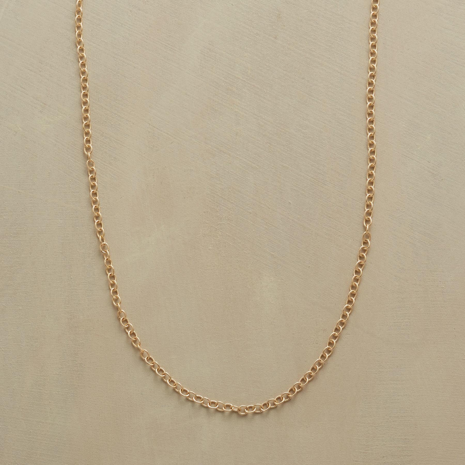 "24"" GOLD CHAIN CHARMSTARTER NECKLACE: View 1"