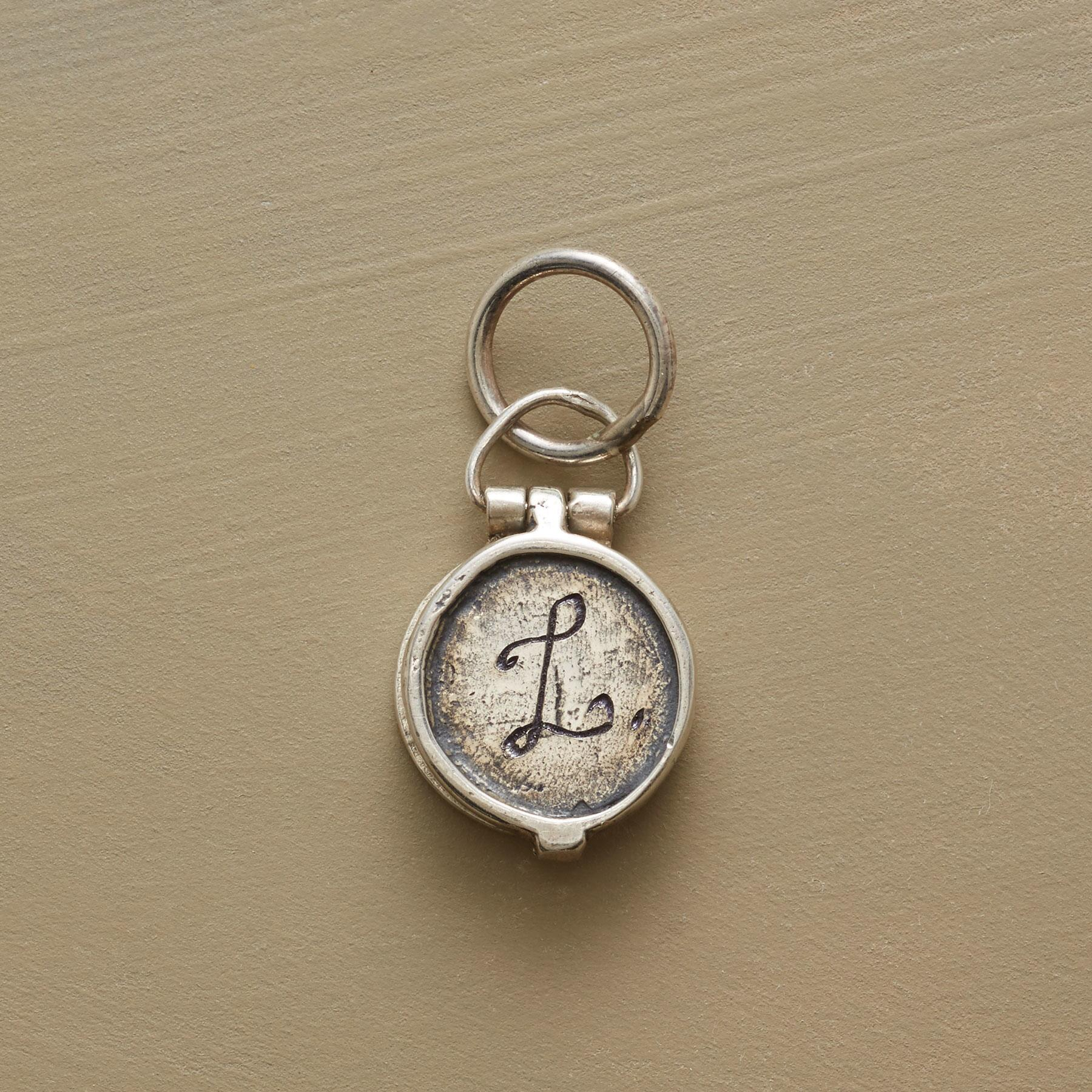 STERLING INITIAL LOCKET CHARM: View 1
