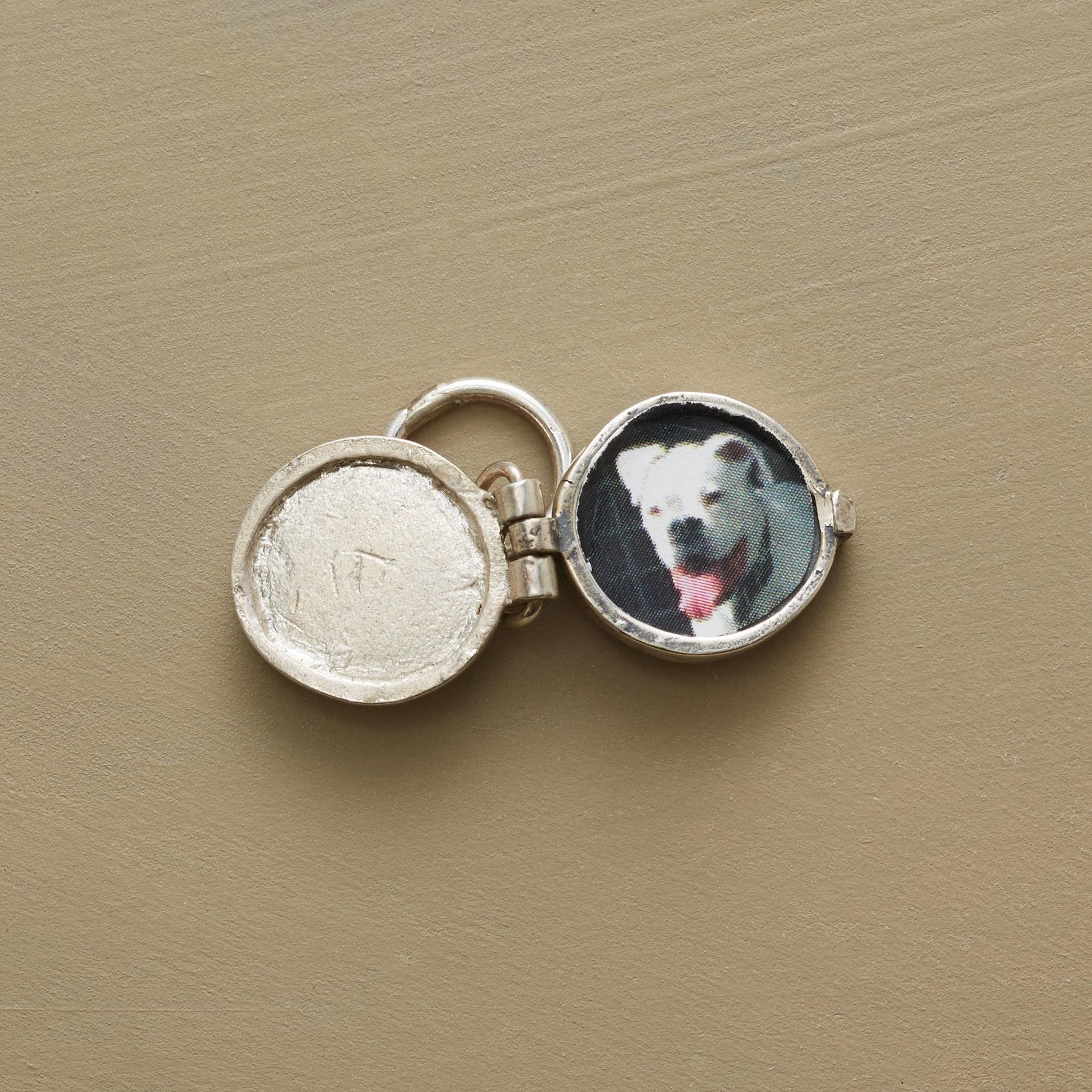 STERLING INITIAL LOCKET CHARM: View 2