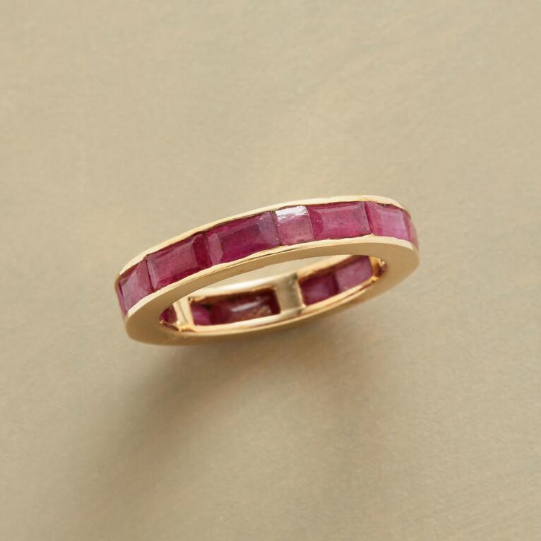 RUBY CIRCLE OF GEMSTONES RING