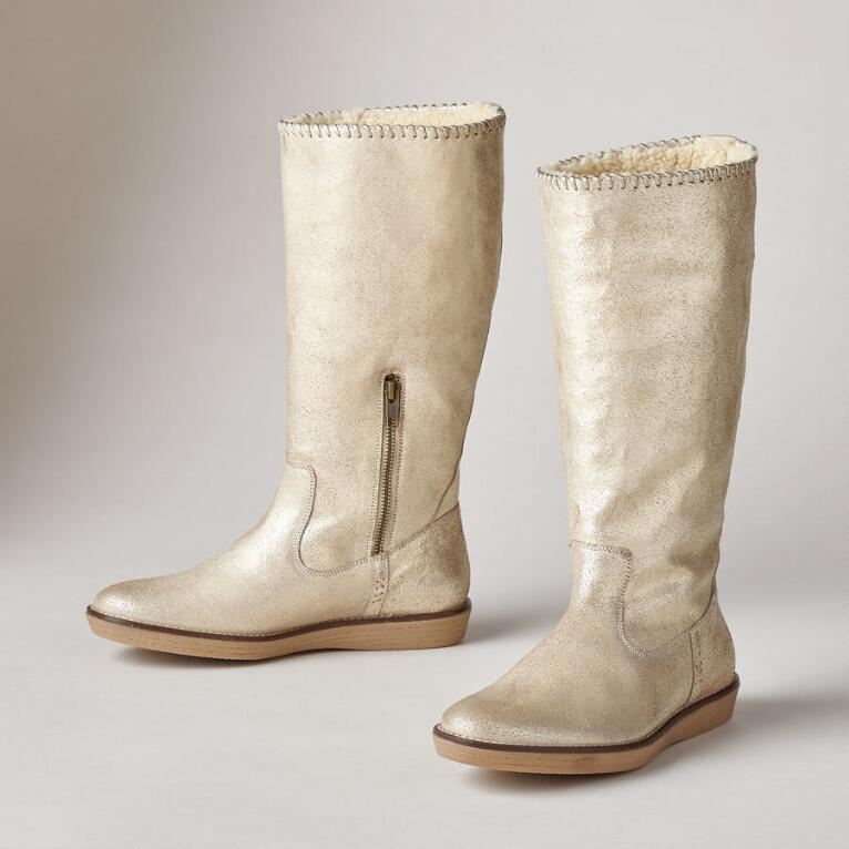 GILT EDGED SHEARLING BOOTS