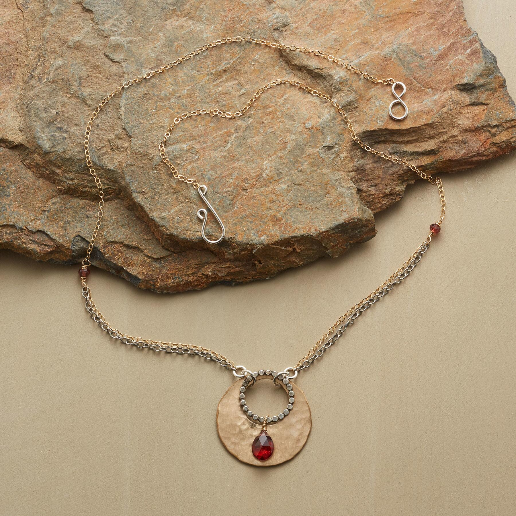 GARNET TEARDROP NECKLACE: View 2