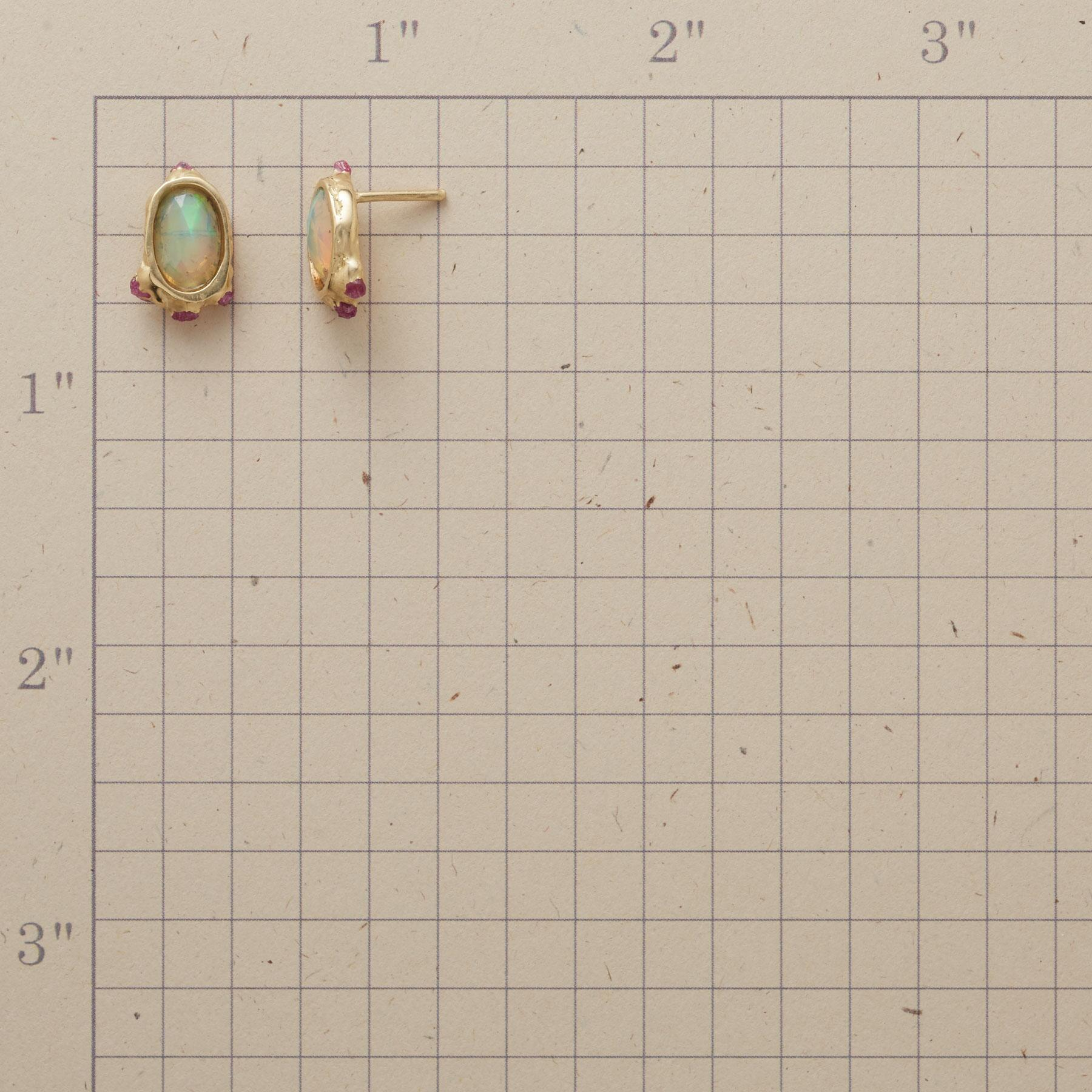 OPEN OPAL EARRINGS: View 2